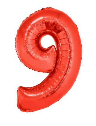 Mylar Numbers Red