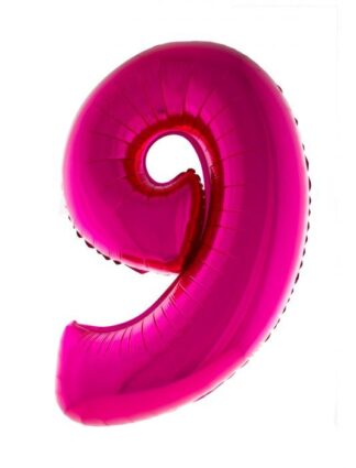 Mylar Numbers Pink